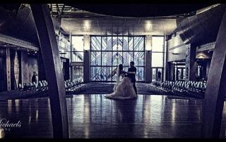 Wedding couple dance at Te Papa Marae
