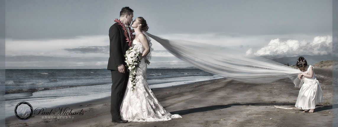 Wellington wedding along the Kapiti coast.