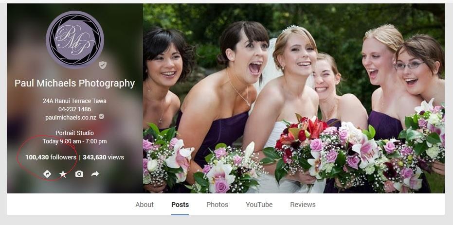 Paul Michaels Photography hits 100,000 Google plus followers