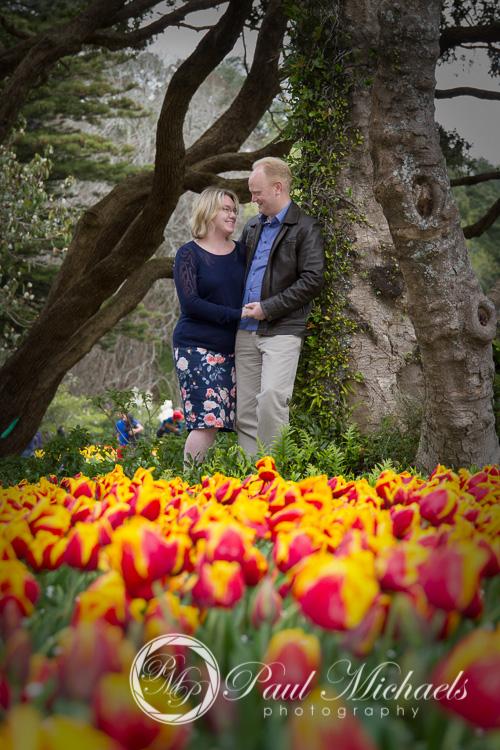 Matt and Sarah in the botanical gardens, Wellington.