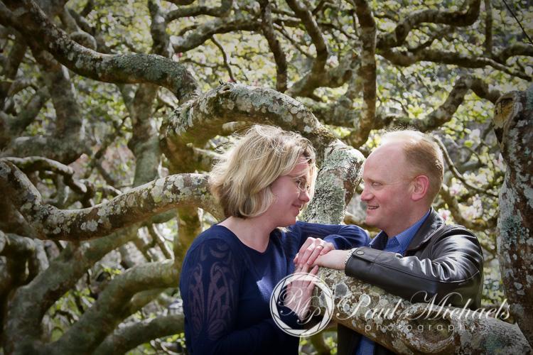 Spring photos in Wellington gardens with Matt and Sarah.