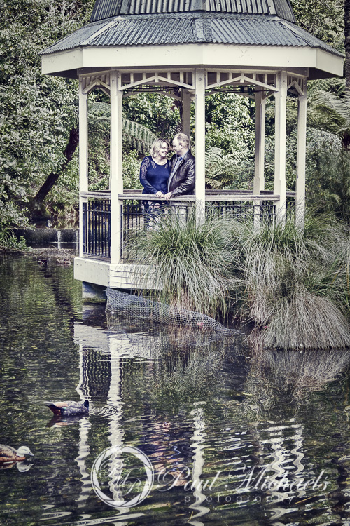 The botanical gardens duck pond with Matt and Sarah.
