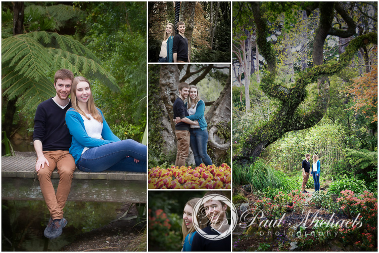 Engagement picture collage.