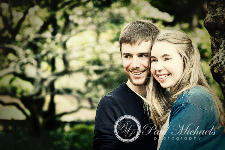Couple portraits in the gardens.