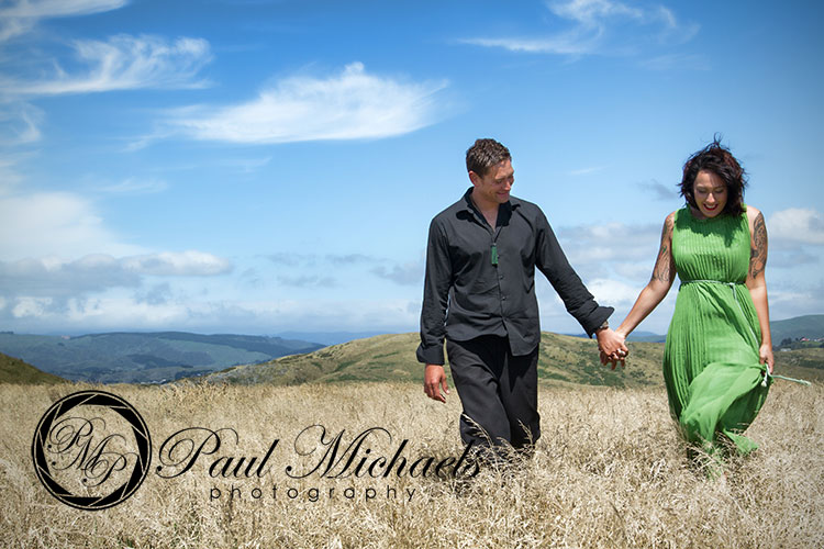 Engagement photography in whitireia park.