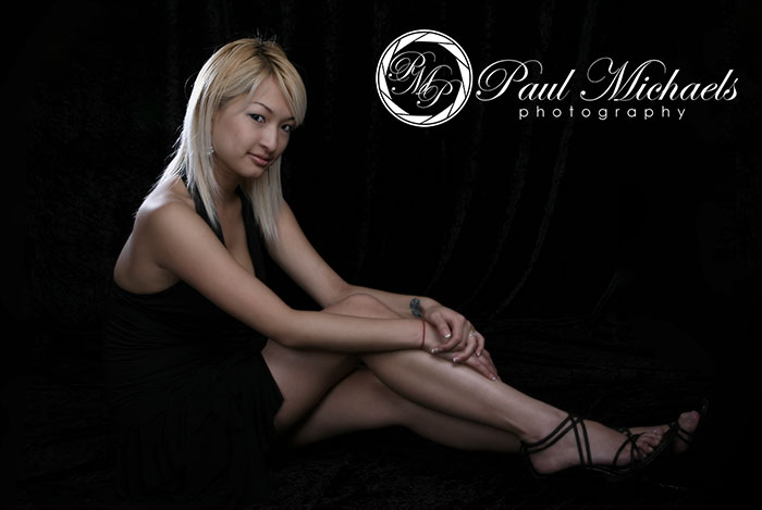 Glamour portraits in the studio by PaulMichaels photography.