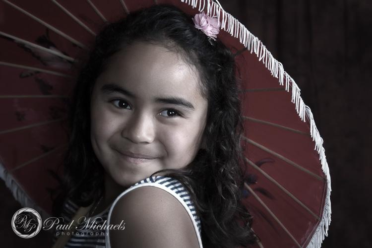 Kids portrait at studio photoshoot.