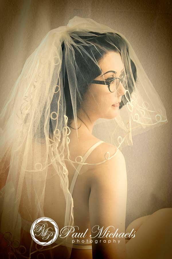Bridal veil portriture image.