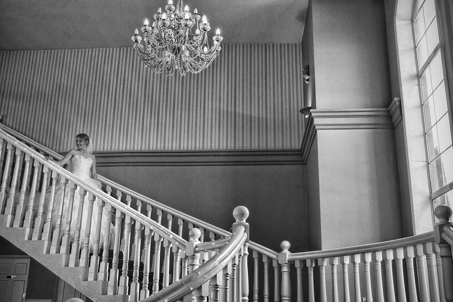 Bride arrival down the stairs