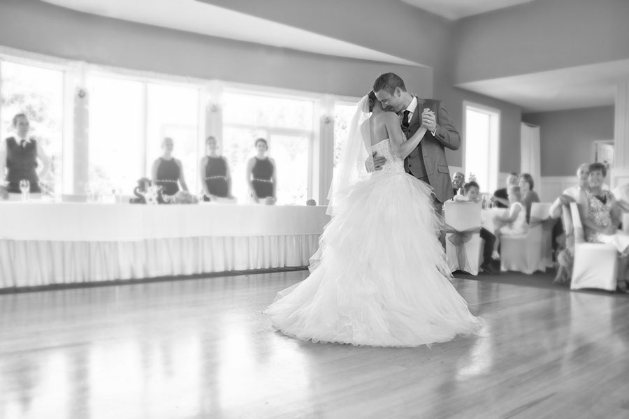 Christian and Stephanie's first dance