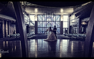 Wedding couple dance at Te Papa Marae