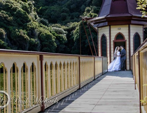 Latham and Hayley's Zealandia ceremony